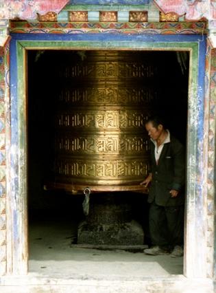 Monastery on Dekyi Shar Lam, Lhasa Tibet 1996
