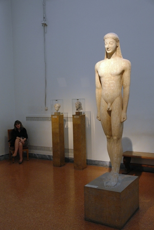 Kouros, 550 BC, found in Melos, National Museum, Athens, Greece 2013
