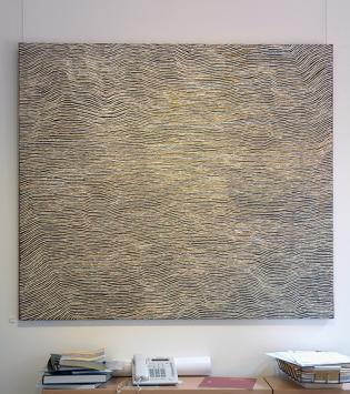 Painting by Yukultji Napangati, Papunya Tula gallery, Alice Springs, Australia 2013