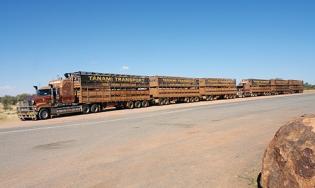Road trains, Central Australia 2013