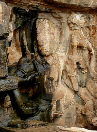 Shiva Nataraj (upper part), Neelkanth temple, Kalinjar Fort, Uttar Pradesh, India 2009