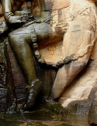 Shiva Nataraj (lower part), Neelkanth temple, Kalinjar Fort, Uttar Pradesh, India 2009