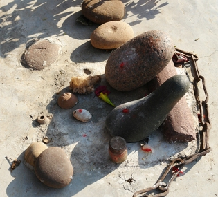 Lingam stones, Orchha, Madhya Pradesh, India 2009
