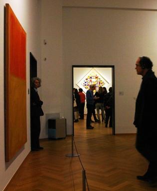 Rothko vs Mondriaan at the Rothko exhibition in 2015, Gemeentemuseum The Hague, Netherlands 2015