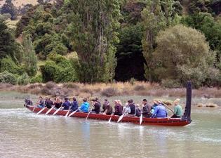 Waka, Waitangi Day, Okains Bay, South Island New Zealand 2013