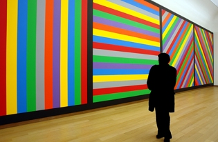 Sol LeWitt, Wall Drawing #1084 (detail), acrylic on wall, Stedelijk Museum Amsterdam, 2003