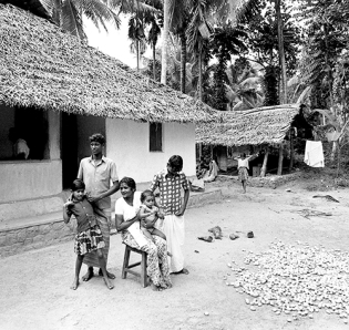 Family of my friend Sukumaram, Vellanad, TVM district, Kerala, India 1976